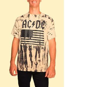AC/DC Man In Black Tour Tie Dye T-Shirt 3XL NWT